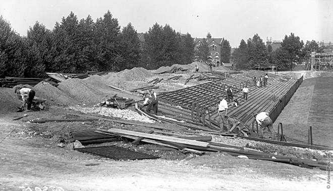 costruzione stadio highbury