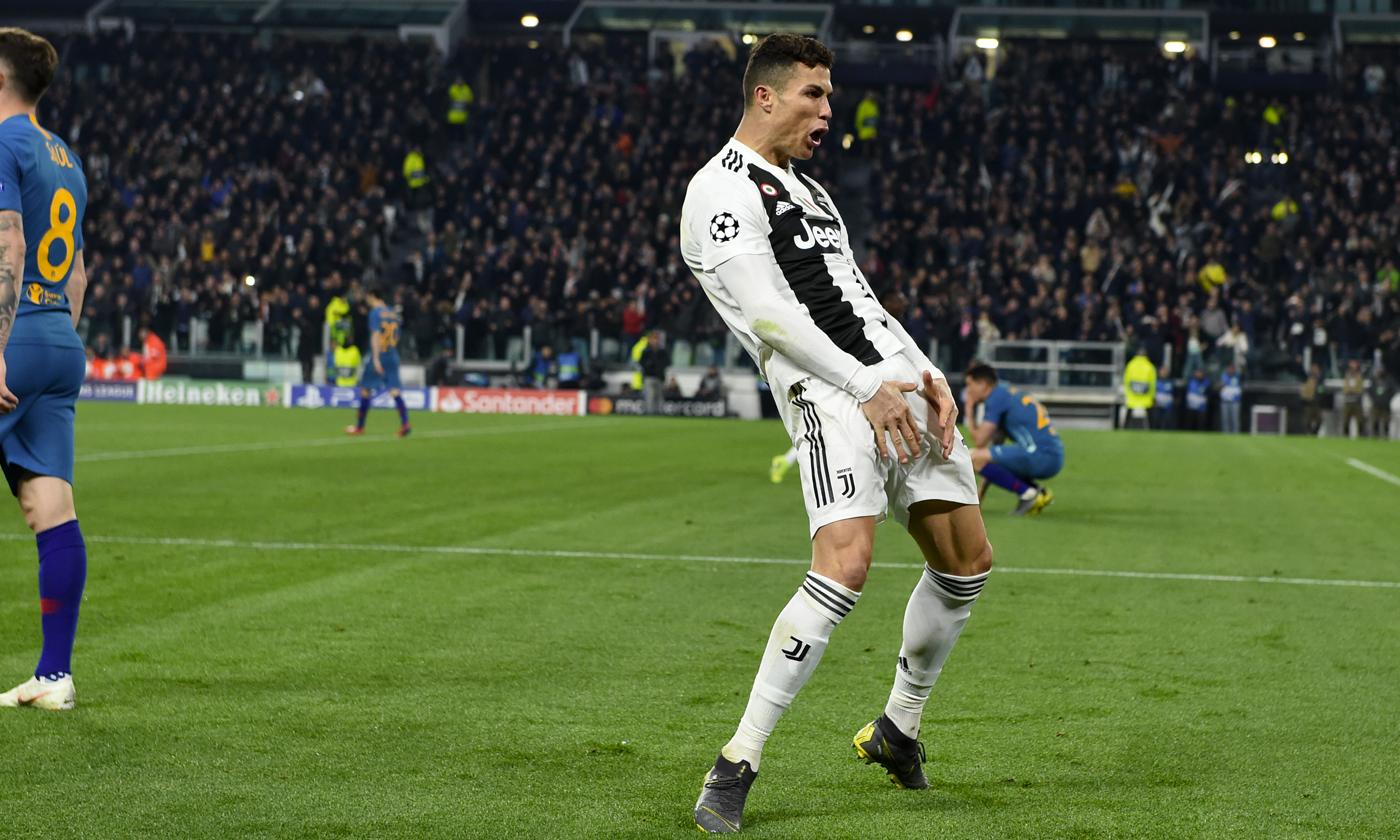 Cristiano Ronaldo aletico juventus gesto huevos